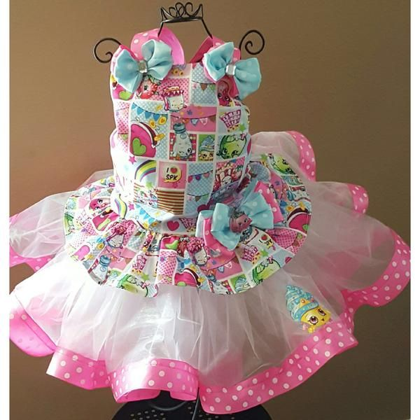 This listing is for a Limited Edition Shopkins birthday tutu outfit corset combo. Tutu is made of tulle and Corsetis made of Shopkins fabric to match.
