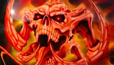 Killer flames and skulls paint jobs for motorcycles