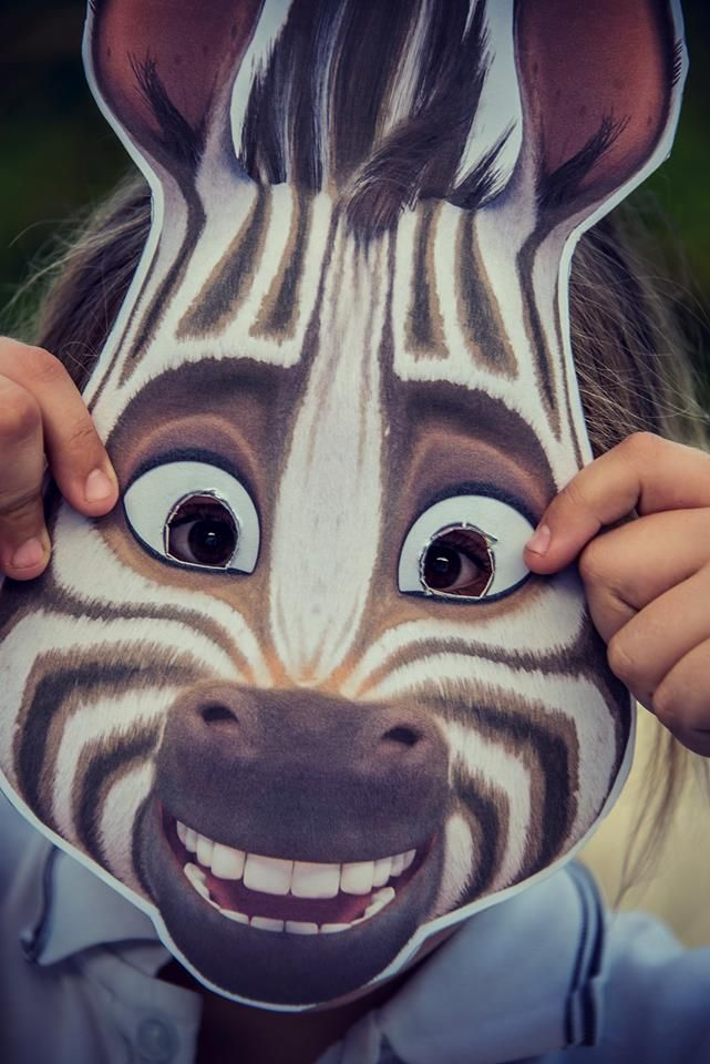 A huge Khumba fan!! She had the idea for a dress-up-as-Khumba theme for a horse show with her pony, and planned to wear this mask.  Her mother says she is half Zebra herself, she loves Khumba so much!! ;)  www.khumbamovie.com