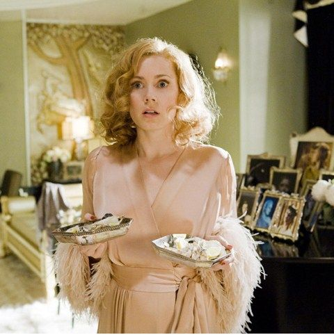 A pretty dressing gown/robe on Amy Adams in Miss Pettigrew Lives for a Day! A wonderful movie with some great costuming.