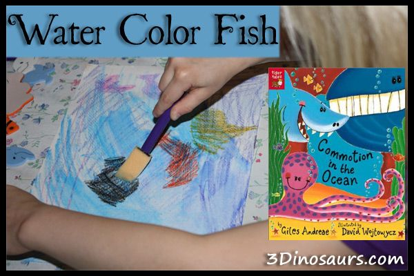 Water Color Fish – Commotion in the Ocean