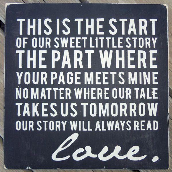 Sweet Little Story Sign Black
