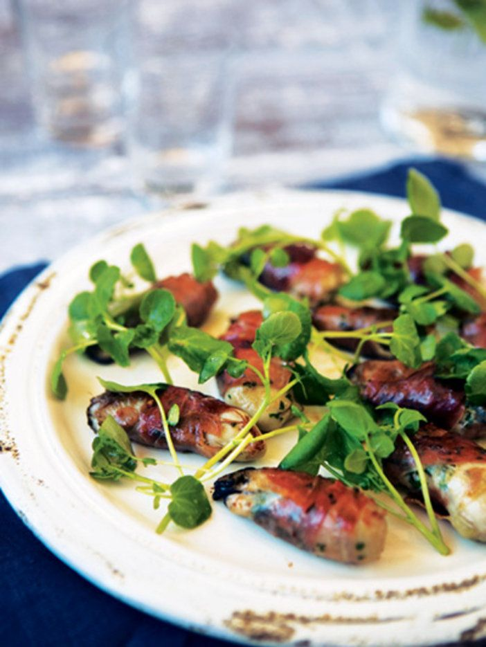 牡蠣がガーリック風味で男子好みに変身|『ELLE a table』はおしゃれで簡単なレシピが満載!