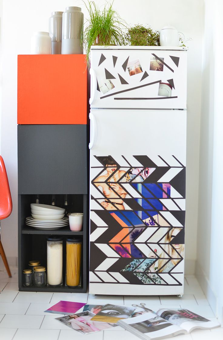 DIY magnet fridge mood board by Mamie Boude