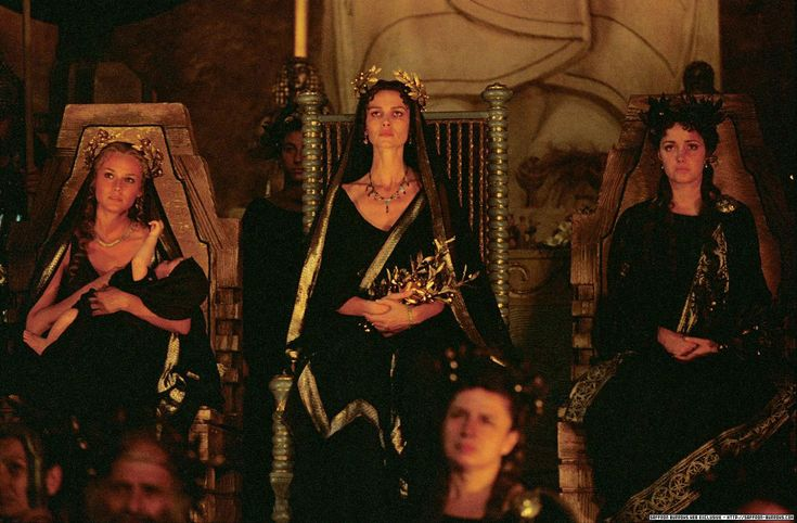 Helena, Andromache and Briseis, Troy.