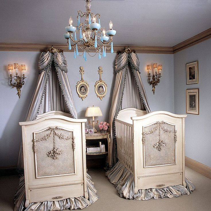 Cherubini cribs by designer Betty Lou Phillips steal the show inside this Victorian nursery
