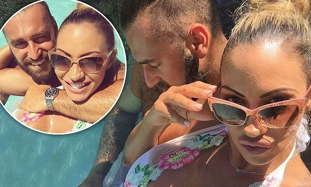 Newly-wed Jodie Marsh flaunts extreme cleavage on honeymoon