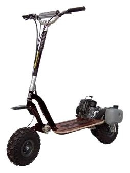 Go-Ped GTR46R Trail Ripper Gas Powered Full Suspension Off-Road Scooter (Sinister Black)