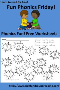 Fun, Free, Phonics Worksheets for Friday! | Mrs. Karle's Sight and Sound Reading™
