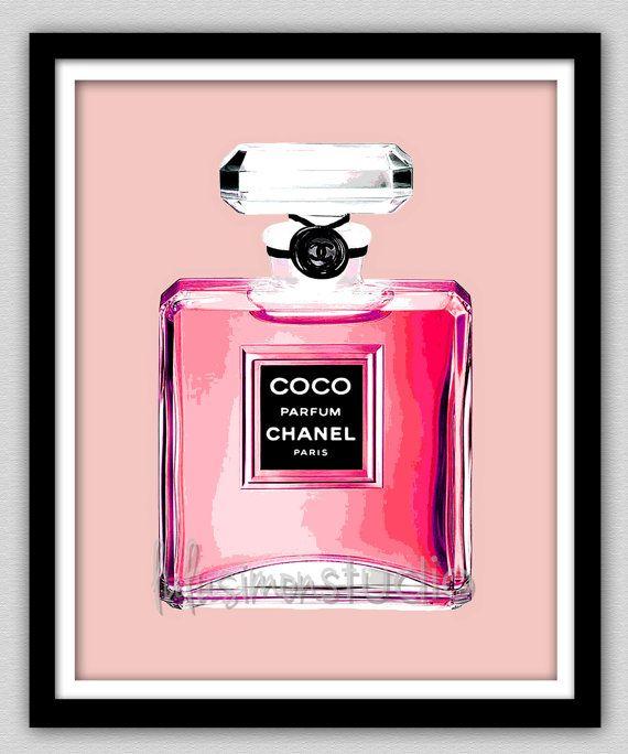 Wall Decor Print Chanel Chanel Print Modern by lulusimonSTUDIO