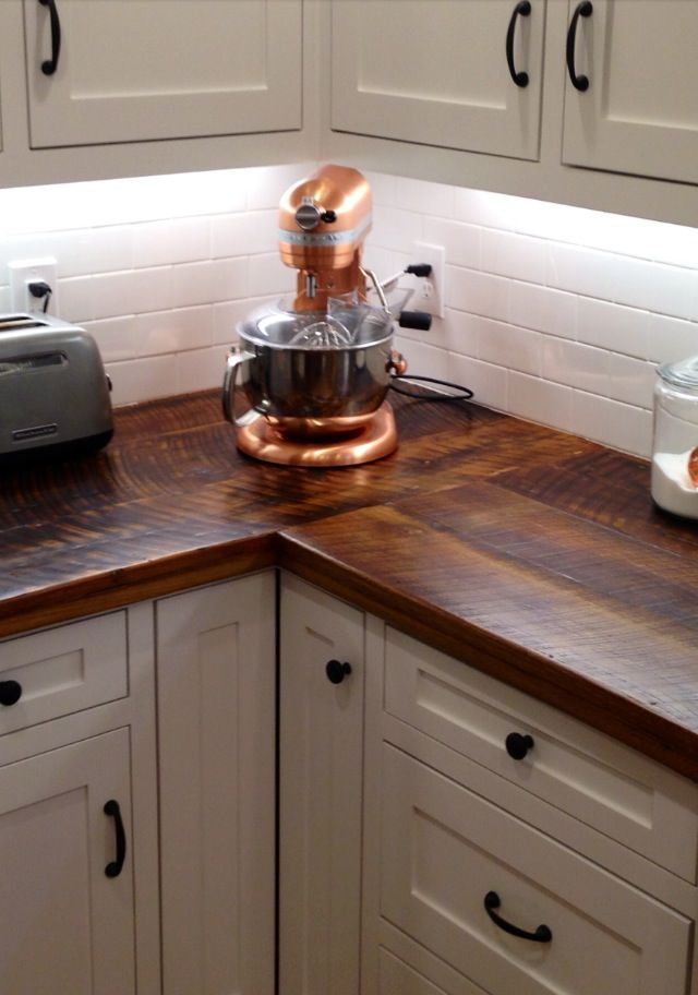 Best 25 wood countertops ideas on pinterest wood for Kitchen countertop options pictures