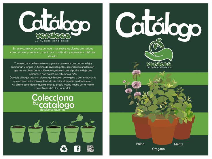 """Catalogo """"Verdees"""" Portada y contra portada"""