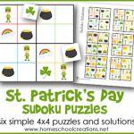 St. Patrick's Day Sudoku Puzzles – Freebie!