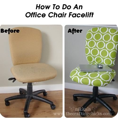 How To Do An Office Chair Facelift...I want to have a cute office chair in my office.