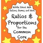 This 50+ page file station activities focused on ratios and proportions. They are designed to align with common core standards for sixth grade math...