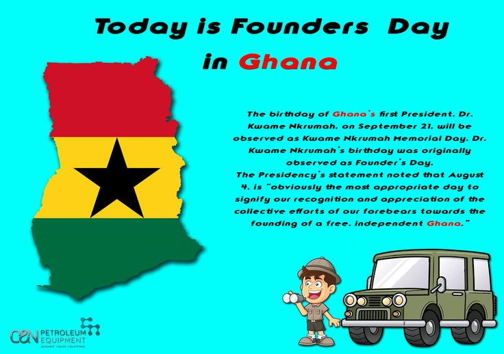 Today we take you to Ghana.🇧🇴️ Today they celebrate Founders day! 📜