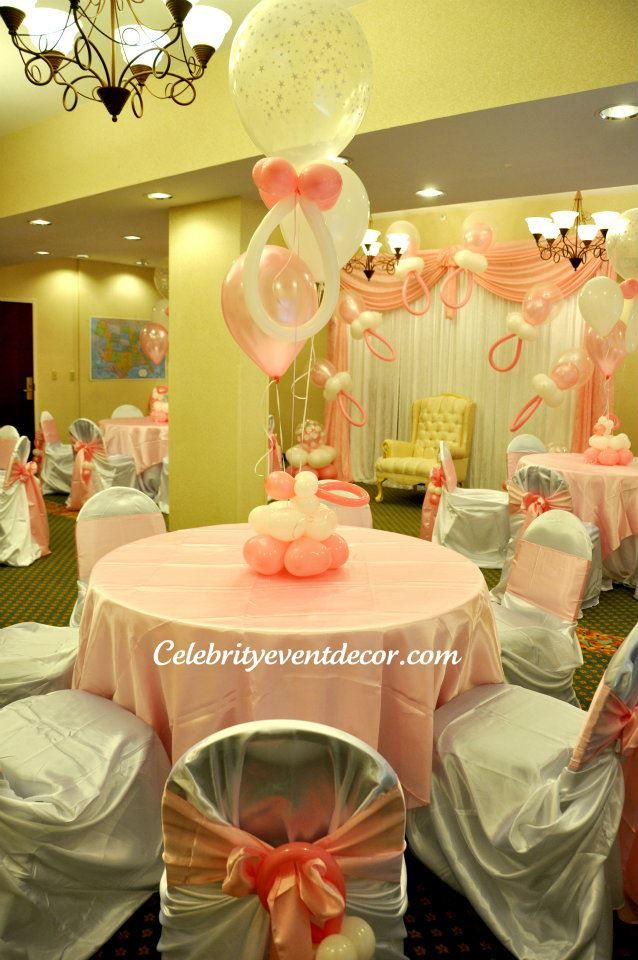 578 best baby shower ideas images on pinterest shower for Baby shower party hall decoration ideas