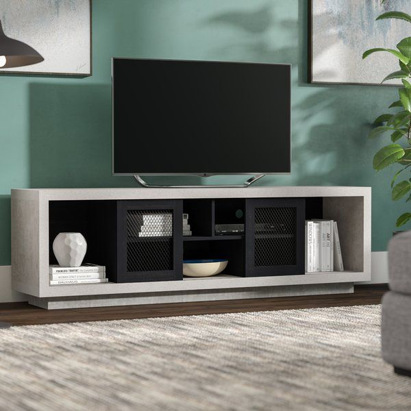 Cioffi Tv Stand For Tvs Up To 75 Industrial Tv Stand Tv Stand