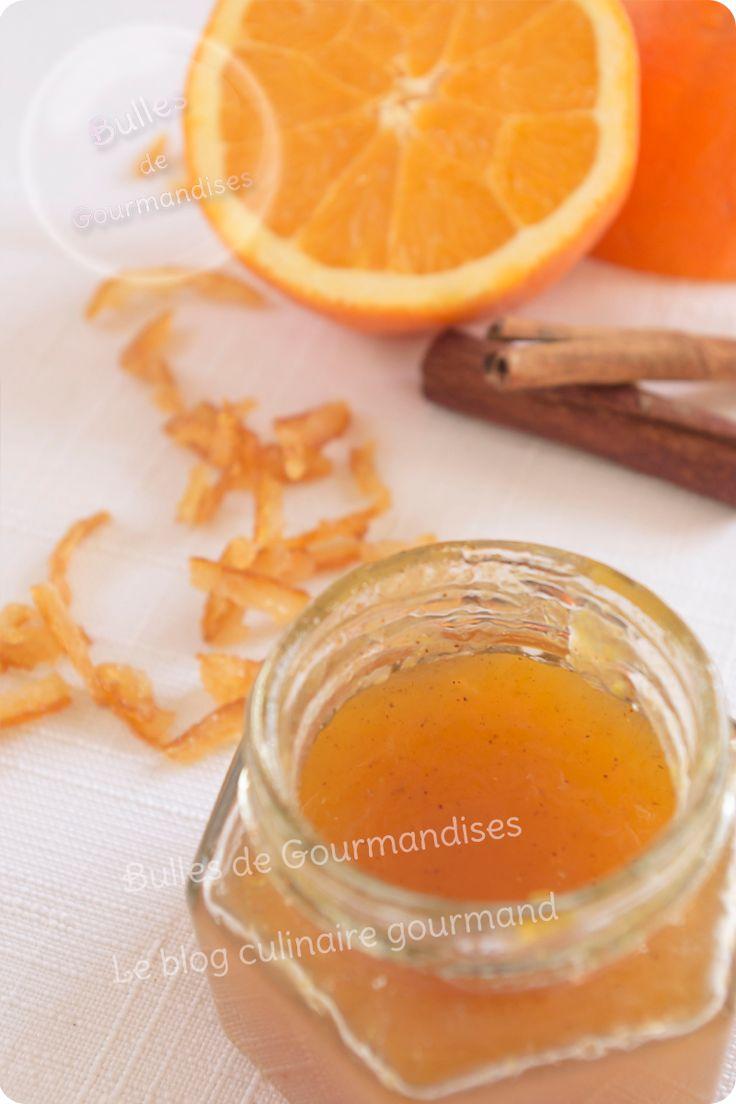 Confiture d'oranges Bio à la cannelle et aux écorces de Yuzu