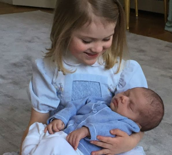 """The dress worn by Princess Estelle is an old dress of her mother Crown Princess Victoria. That dress was on Crown Princess Victoria at the """"Te Deum"""" service held shortly after Princess Madeleine was born in 1982."""