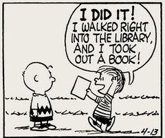 Yay for libraries!: Peanuts, Reading, Childhood Memories, Libraries Book, Charli Brown, Public Libraries, Charlie Brown, Comic Strips, Peanut Gang