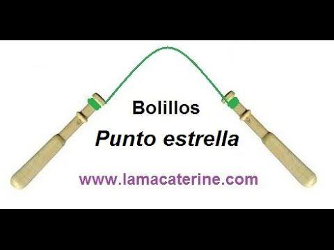 Las Labores y Manualidades de Caterine: Bolillos: Como hacer el punto estrella