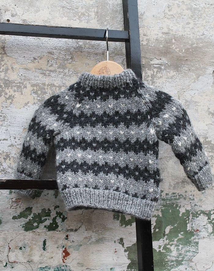 Fjeld sweater baby strikkekit