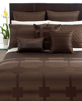 hotel collection bedding meridian sepia collection bedding collections bed u0026 bath macyu0027s