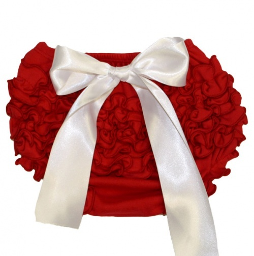 Ruffled Bloomer with Bow for Baby.