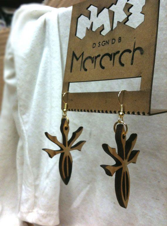 Tribal stars lasercut earrings by mararch on Etsy, $37.00