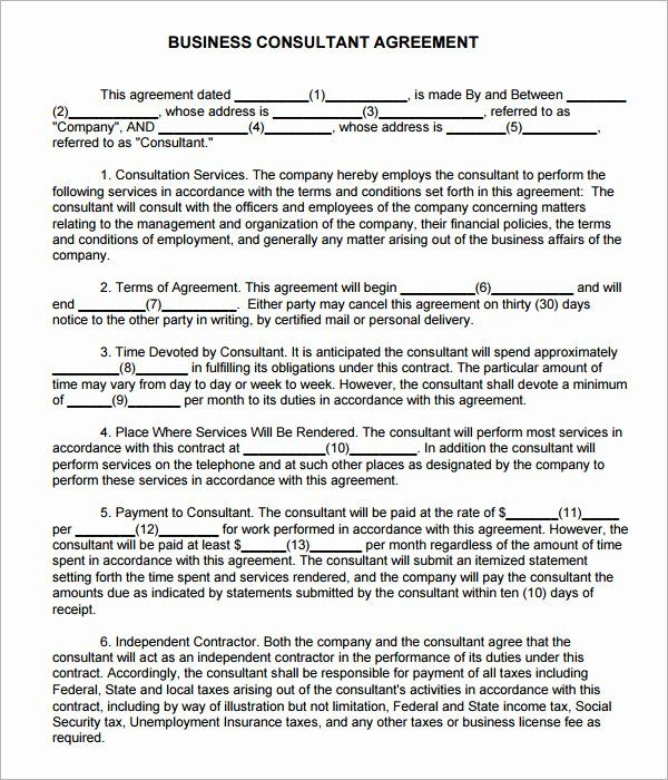 Sample Construction Consulting Agreement 9 Consulting Agreement Template Understanding About Consulting Agreement Tem Contract Template Agreement Contract