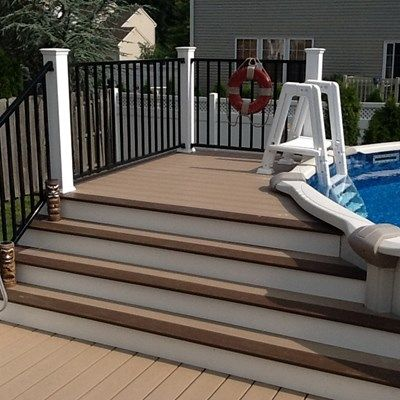 17 best images about deck ideas on pinterest decking patio deck designs and outdoor curtains - Fake brick skirting ...