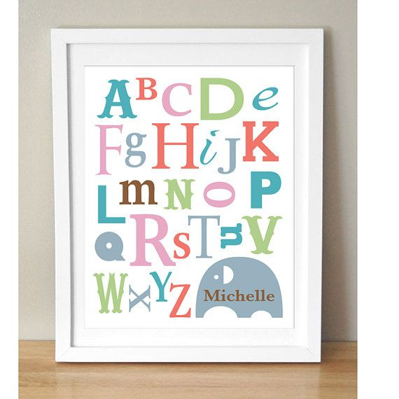 Customized Alphabet Name Art  Personalized Baby by MyDreamWall