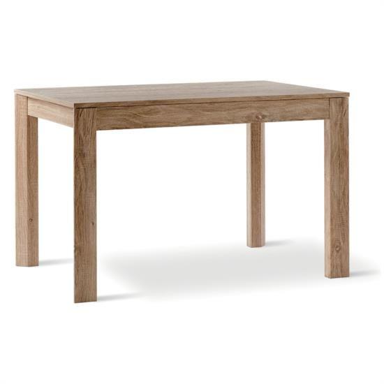 Tavolo allungabile con gambe fisse in legno e melaminico rovere