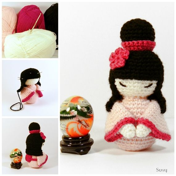 Kokeshi Doll Knitting Pattern : Amigurumi Kokeshi by SuniMam.deviantart.com on @deviantART My Craft Pinte...