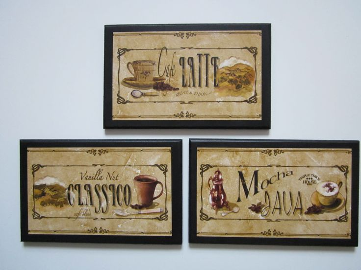 Wall Decor Plaques 3 Piece Set Mocha Latte Espresso Tuscan Style Kitchen *  To View Further For This Item, Visit The Image Link.