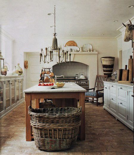 Big Questions For Small Country Kitchens: How To Incorporate Big Baskets In Your Home