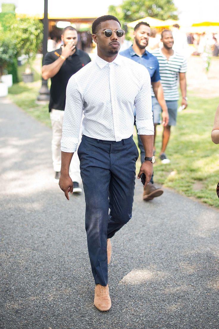 Michael B. Jordan - Going sans tie like Jordan does not mean that sloppiness rules.