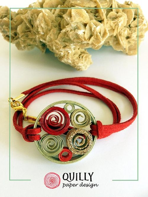 Quilling Designs for Recycled Paper Jewelry. See more art and information about QuillyPaperDesign, Press the Image.