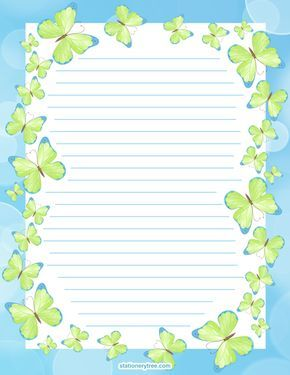 Butterfly Stationery and Writing Paper