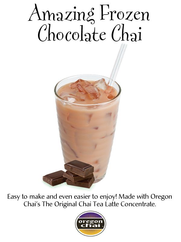 AMAZING FROZEN CHOCOLATE CHAI: Easy to make and even easier to enjoy ...