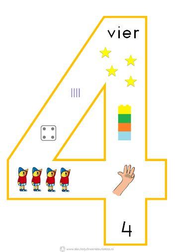 * Cijfersymbolen om in de klas te hangen | Beginnende gecijferdheid. 4-9