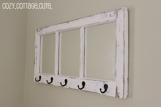 reuse old windows - w/ aged mirrors. I might even leave the glass instead. There are tons of windows in the barn!