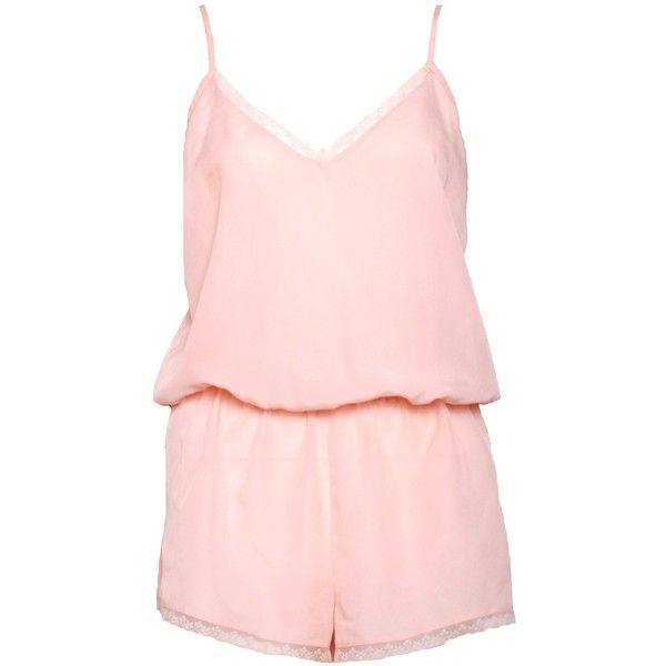 Pre-owned Boux Avenue Playsuit ($35) ❤ liked on Polyvore featuring jumpsuits, rompers, dresses, pink, pink rompers, pink romper et playsuit romper