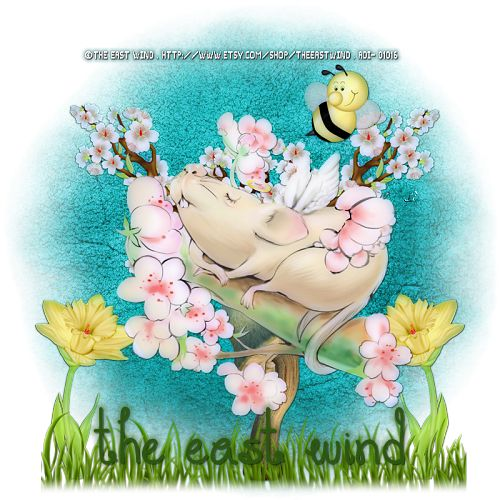 """I am using the amazing artwork of """"The East Wind"""" Find the tube here ... http://www.artisticdreamsimaging.com/product/tew-mouseloving You can find more of their work at ... http://www.artisticdreamsimaging.com/ #DTStaff #TheEastWind #ADI #Seasonal #Spring #Tutorial #Tag #FTU  You can find the tutorial at ... http://lynxtuts.blogspot.com/2017/05/loving-mouse.html"""