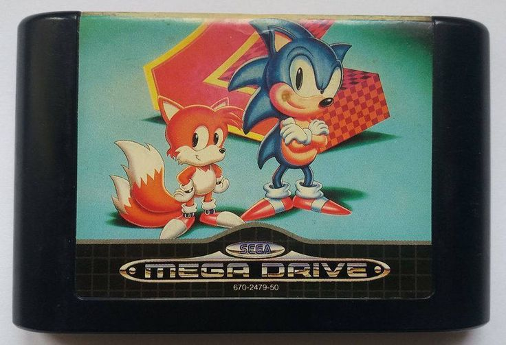 Rare Original SONIC the Hedgehog 2 SEGA MEGA DRIVE game