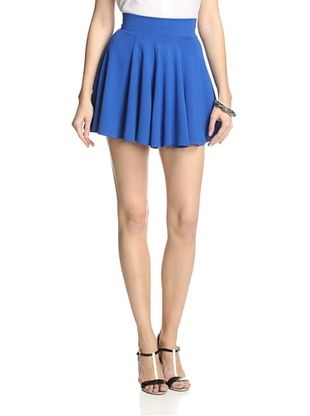 81% OFF French Connection Women's Flare Skirt (Electric Blue)