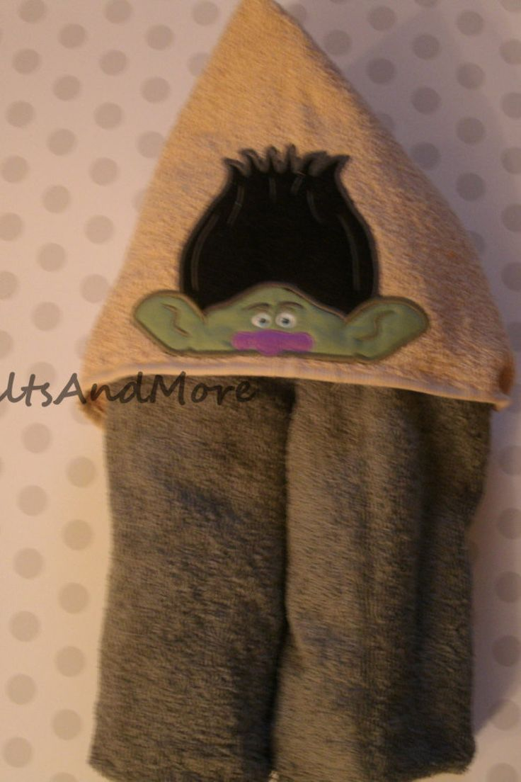Troll (inspired) hooded towel by GrammysQuiltsAndMore on Etsy