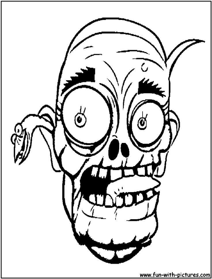 zombies coloring pages Scary