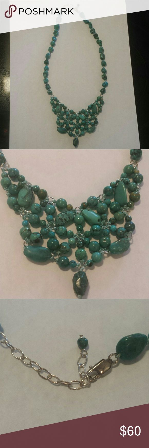 """Genuine Turquoise necklace Perfect condition 20"""" with extender"""" make an offer! HSN Jewelry Necklaces"""